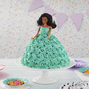 Teal Buttercream Doll Cake