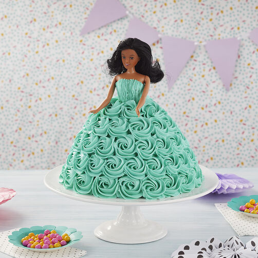 Tickled Teal Doll Cake