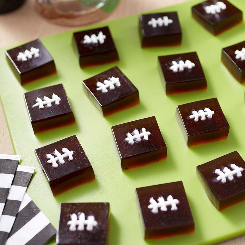 Root Beer Football Jelly Shots image number 0