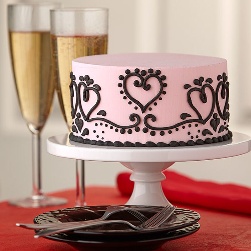 Paisley Passion Valentine Cake image number 0