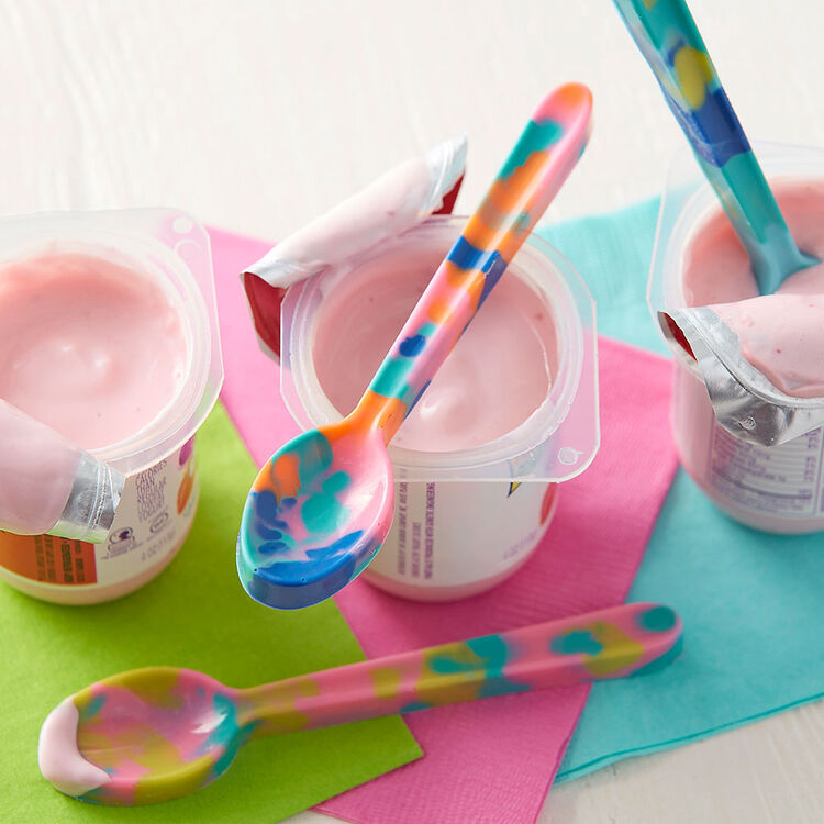 Tie Dye Candy Spoons