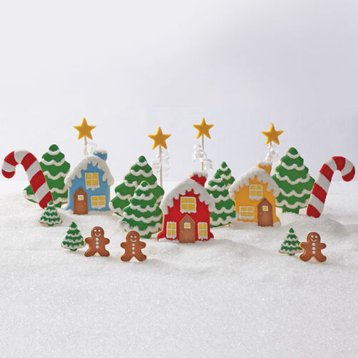 Decked Out Christmas Gingerbread Village