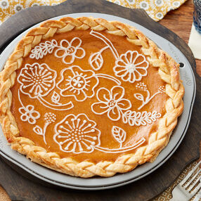 Decorative Pumpkin Pie