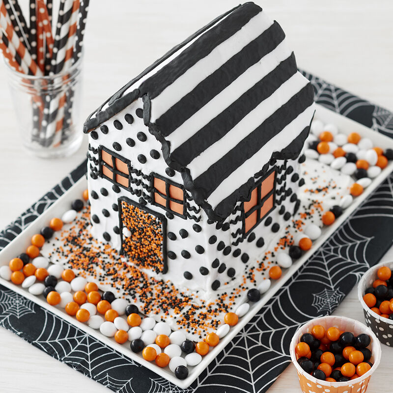 Modern Halloween Gingerbread House image number 1