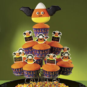 Candy Corn Goes Batty! Cupcakes