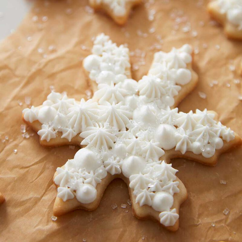 Snowflake Buttercream Cookies image number 1
