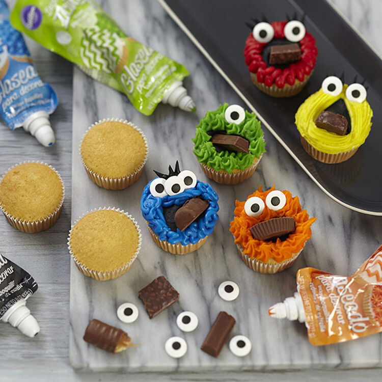 Monster Mouthful Cupcakes