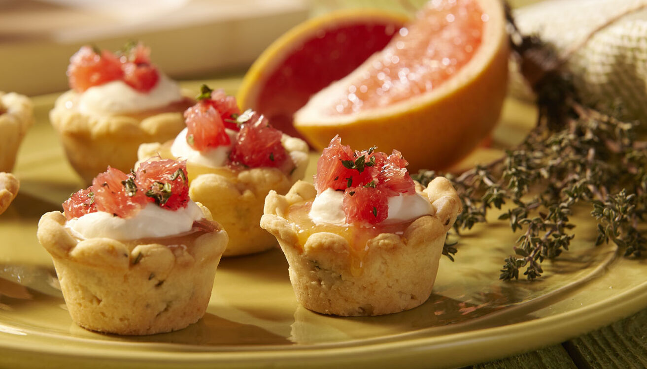 Grapefruit and Thyme Tartlets