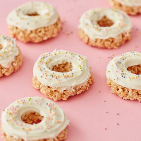 Rice Cereal Treat Donuts
