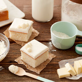 Ermine Frosting Recipe on cake