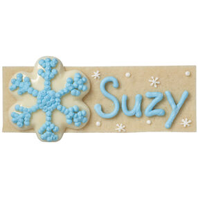 Personalized Snowflake Setting Cookie