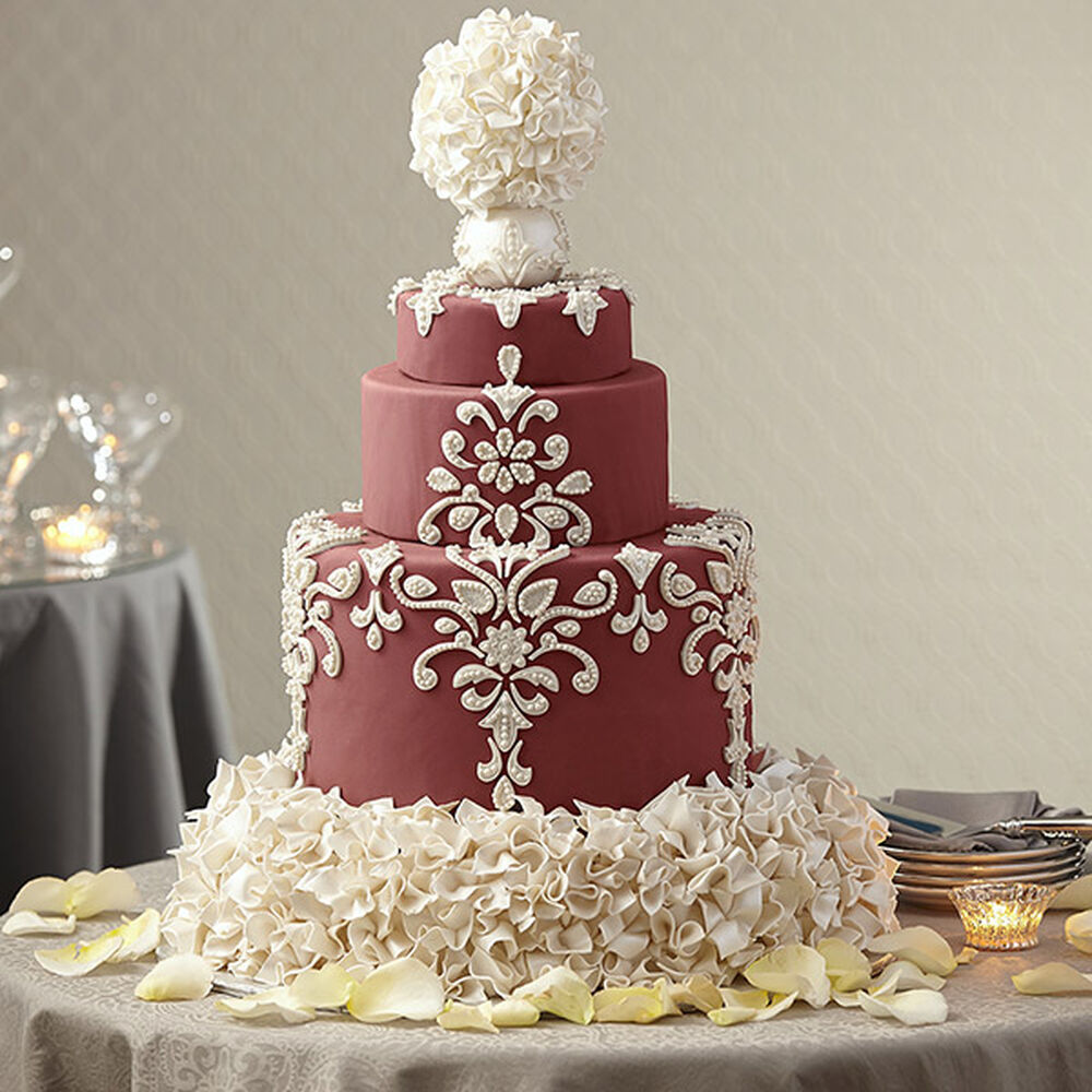 wedding cake decorations wedding cake in marsala wilton 8621