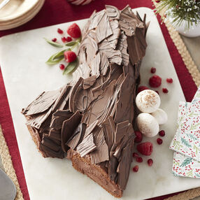 Chocolate Hazelnut Yule Log Recipe