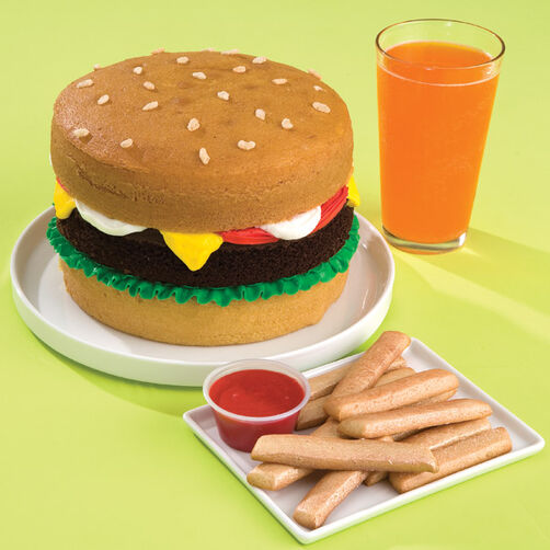 Cheese Burger and French Fries (Not) Cake