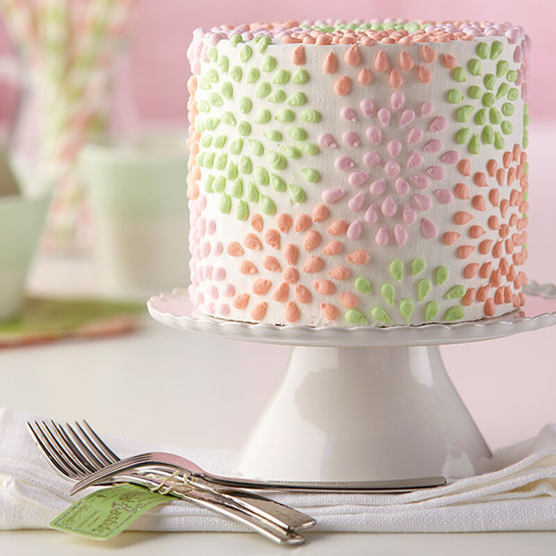 Polka-Dotted Flower Cake image number 0