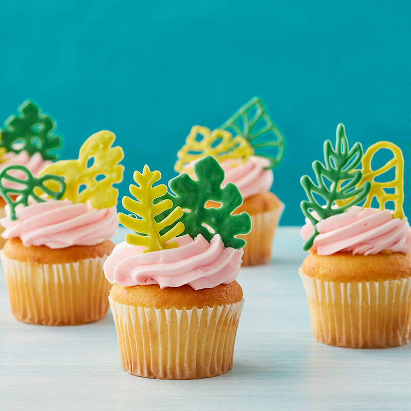 Tropical Leaf Cupcakes image number 0