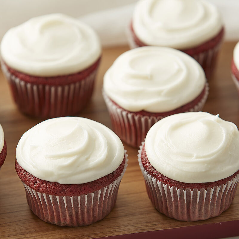 Easy Red Velvet Cupcakes with Cream Cheese Frosting Recipe image number 1