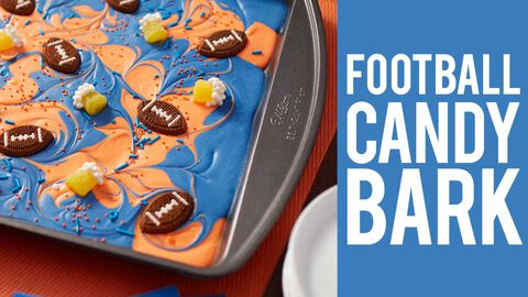 How to Make Football Candy Bark