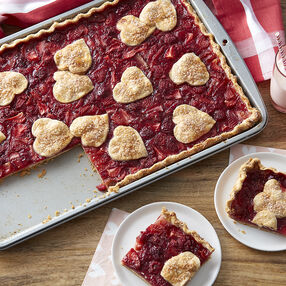 Strawberry-Raspberry Slab Pie Recipe