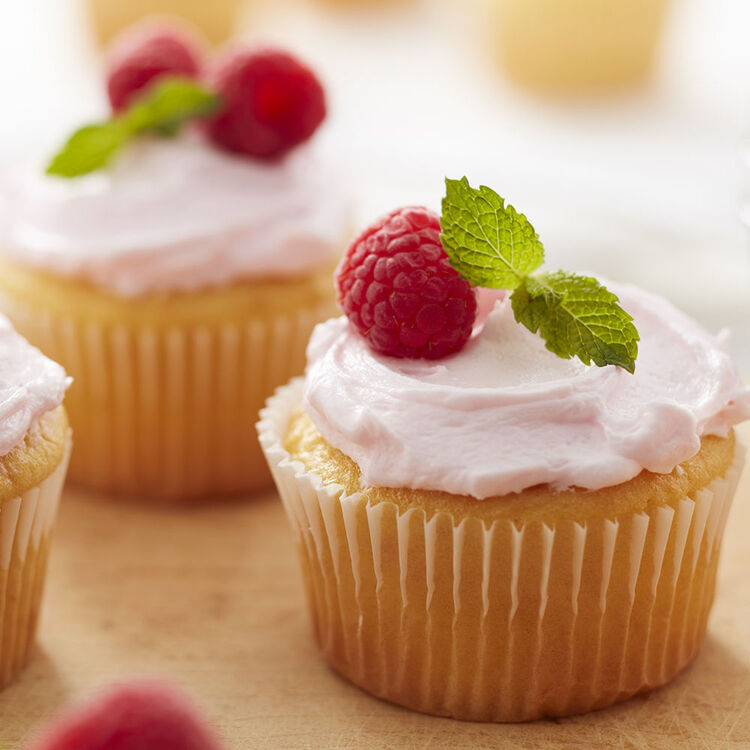 Yellow Cupcakes with Raspberry Buttercream Recipe