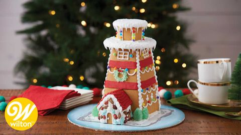 How to Make a Gingerbread Lighthouse