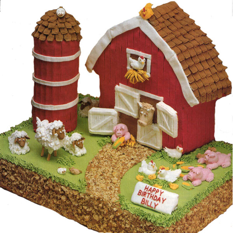 Little Red Barn Cake image number 0