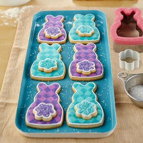 Plaid Easter Cottontail Bunny Cookies