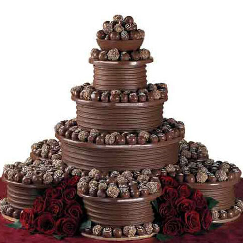 chocolate wedding cake pictures truffle tower cake wilton 12770