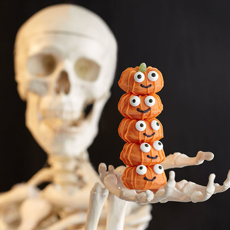 Stacked Mini Donuts - Jack-O-Lantern Donuts image number 0