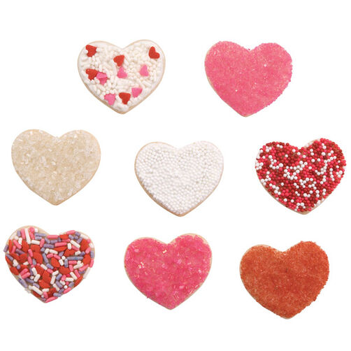 Sparkling Hearts Cookies