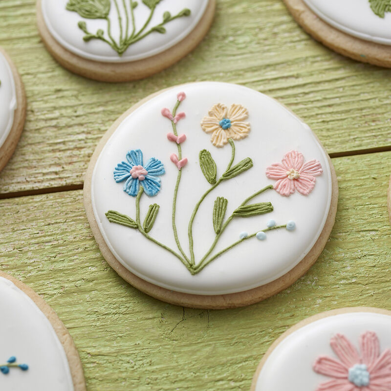 Mother's Day spring cookies with flower details drawn on with FoodWriter image number 1