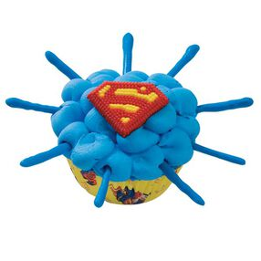 Superman Burst Cupcakes