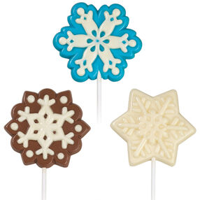 Jolly Snowflakes Candy Lollipops