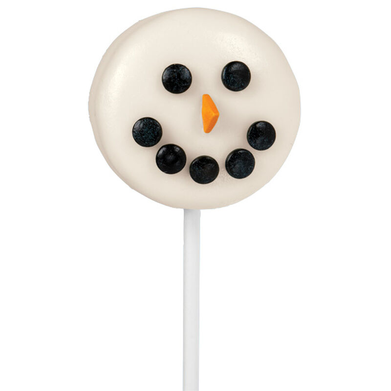 Sunny Snowman Face Cookie Pops image number 0