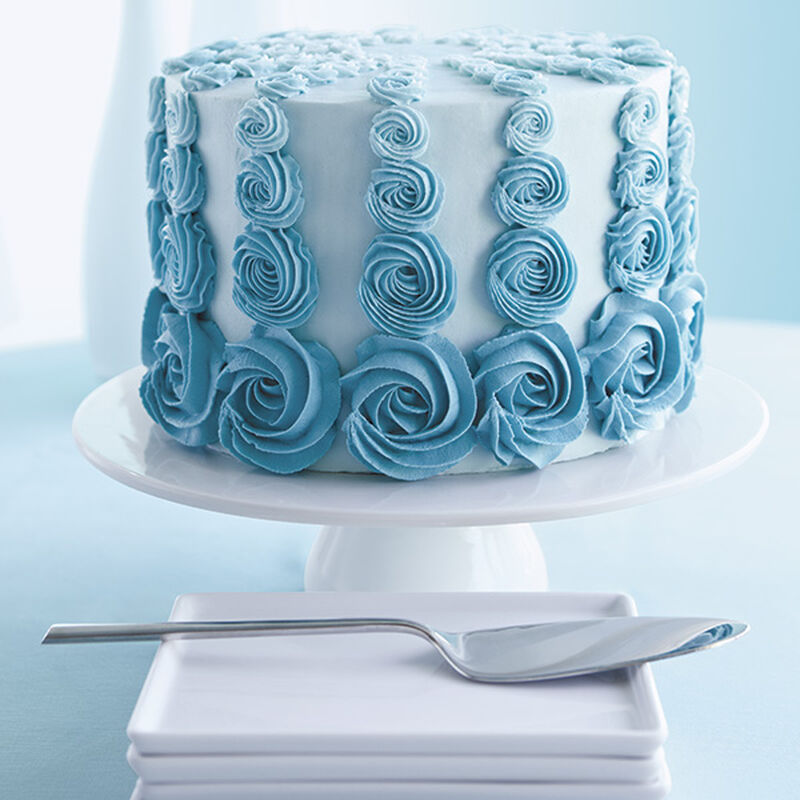 Teal Rosette Ombre Cake image number 0