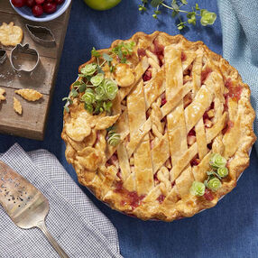 Apple Cranberry Lattice Pie Recipe
