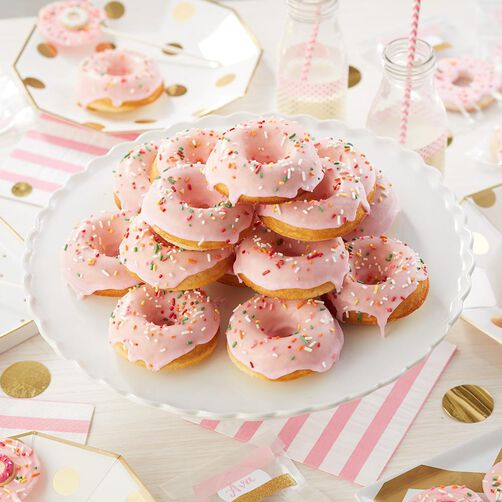 Party in Pink Donut Cake