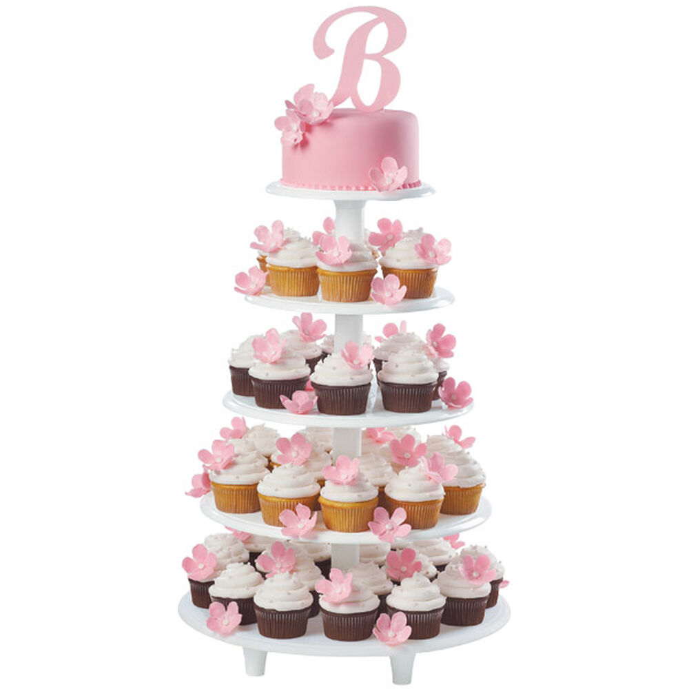 wedding cake tower instructions initial announcement cake and cupcakes wilton 26683