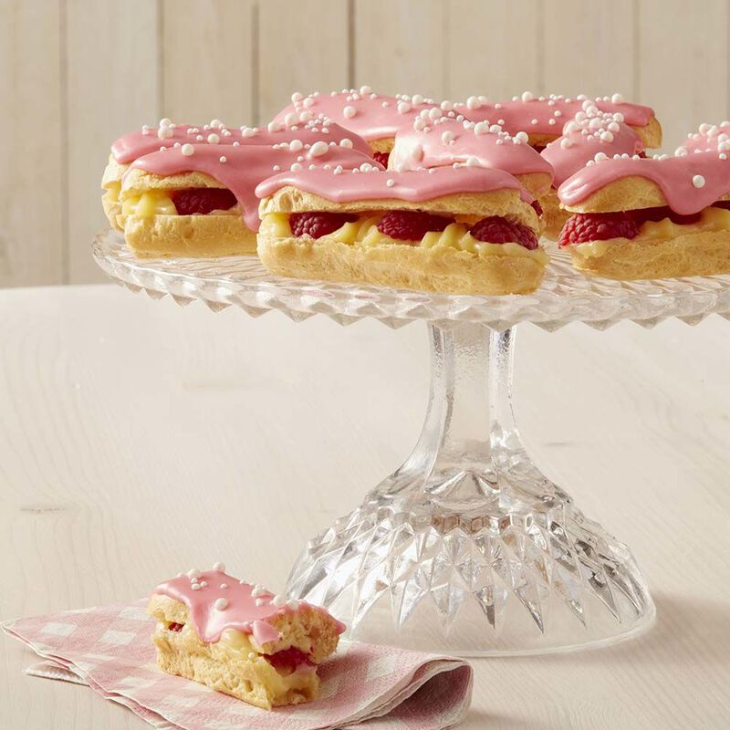 White Chocolate Raspberry Eclairs Recipe image number 0