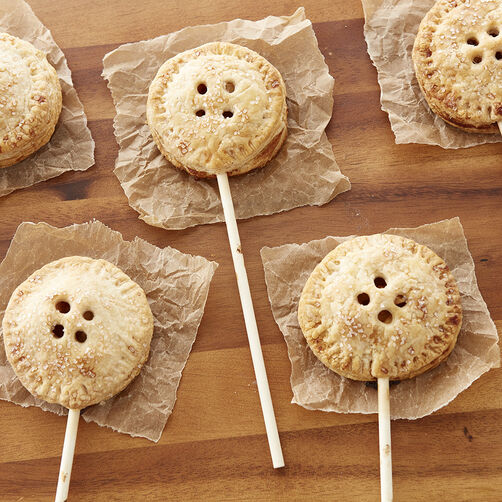 Mini Apple Pies on a stick