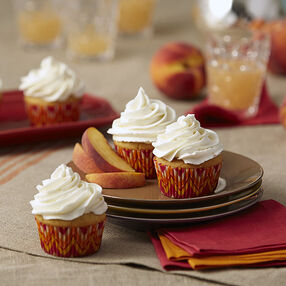 Browned Butter Peach Cupcakes Recipe