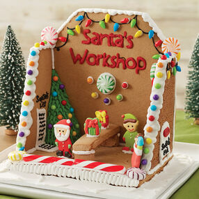 Santa's Workshop Gingerbread Scene #2