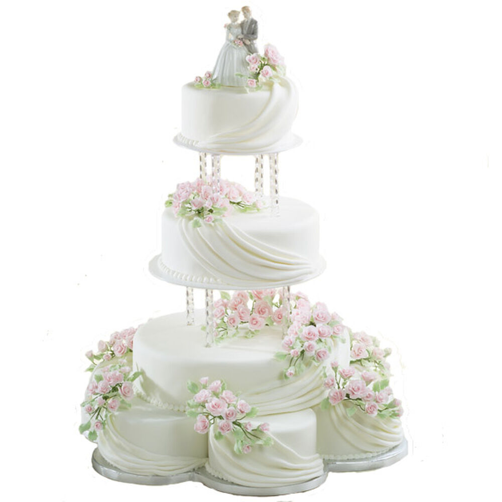 Wedding Cake Stand Ideas: Romantic Ripples Cake