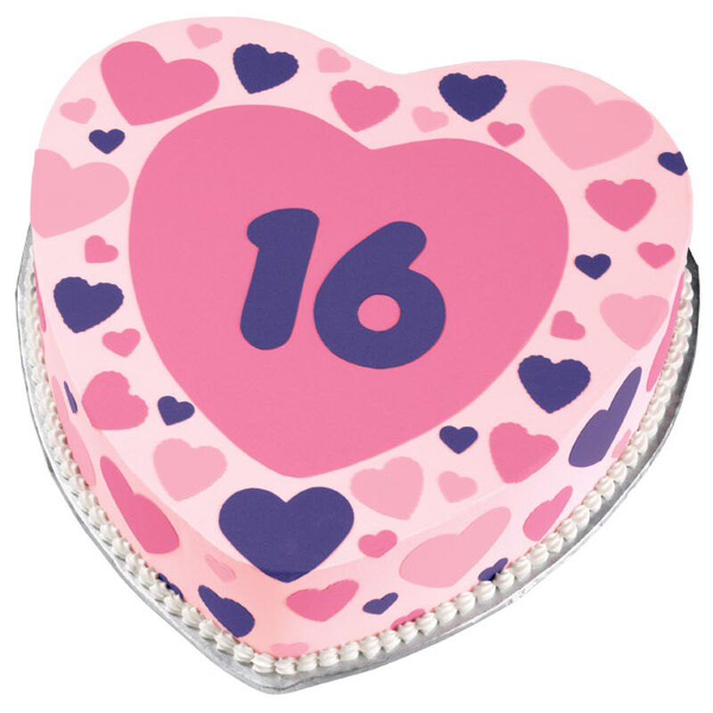Sweet 16 Hearts Cake image number 0