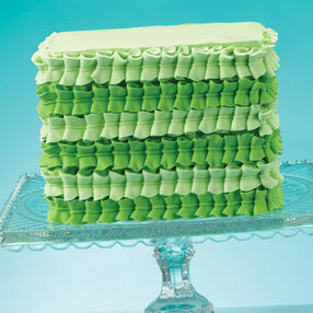 Green Leaf Tip Square Cake