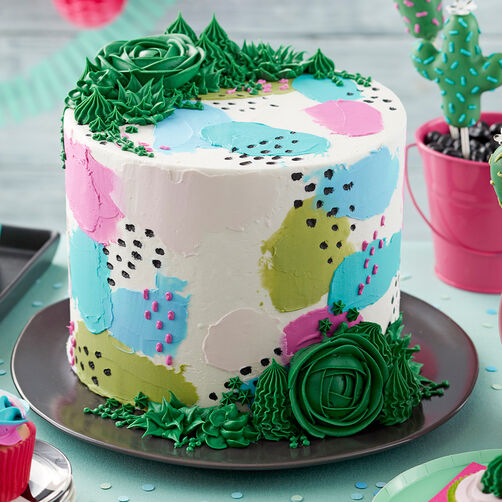Pretty Pastels and Succulents Cake