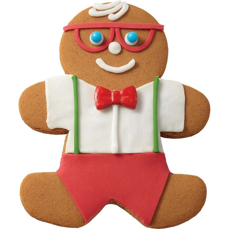 Gingerbread Boy with Glasses
