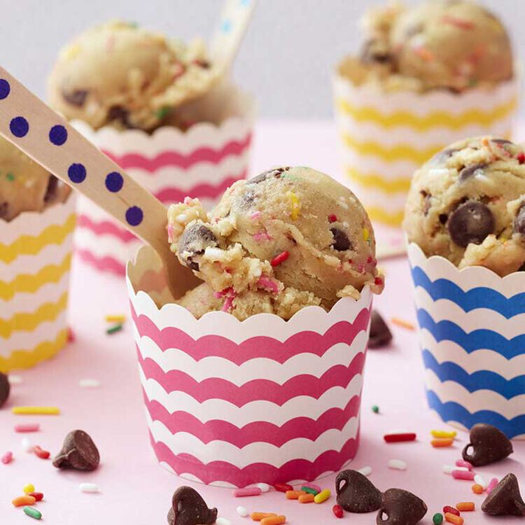 Edible Cookie Dough in Paper Cups