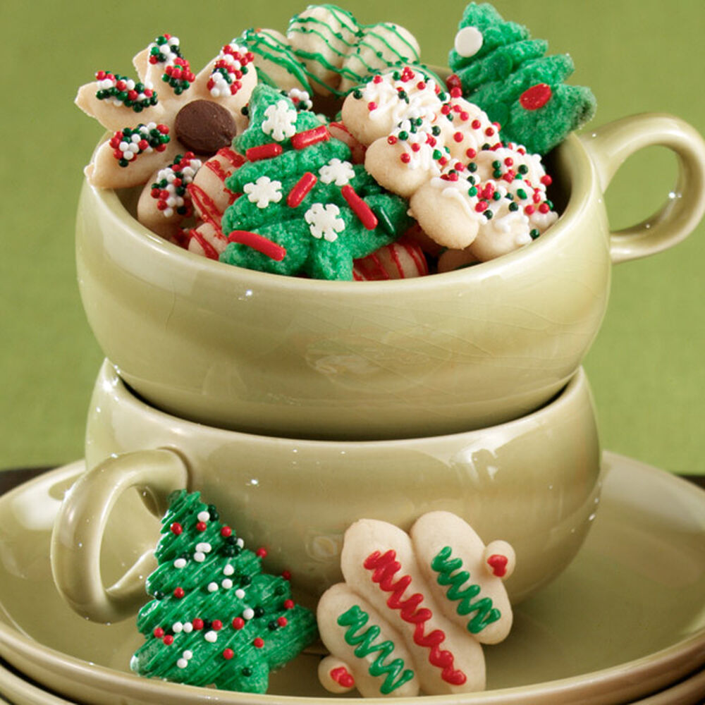 three in one spritz cookies wilton - Decorating Cookies With Sprinkles For Christmas
