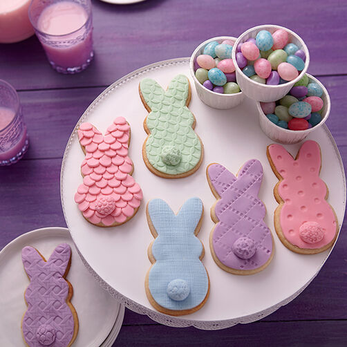 Cookie Bunnies In Spring Colors Wilton